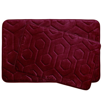 Bounce Comfort Hexagon 2-pc. Memory Foam Bath Mat Set