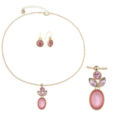 Monet Jewelry Womens 2-pack Pink Jewelry Set