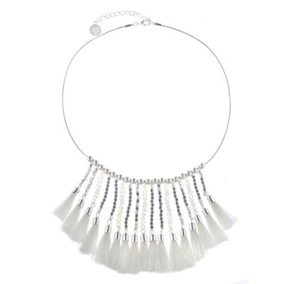 Liz Claiborne Womens White Collar Necklace