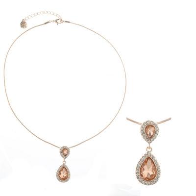 Monet Jewelry Womens Orange Pendant Necklace