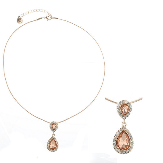 Monet Jewelry Orange 17 Inch Cable Pendant Necklace