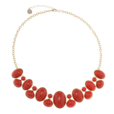 Monet Jewelry Womens Orange Strand Necklace