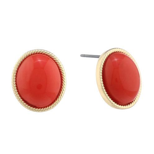 Monet Jewelry Orange Stud Earrings