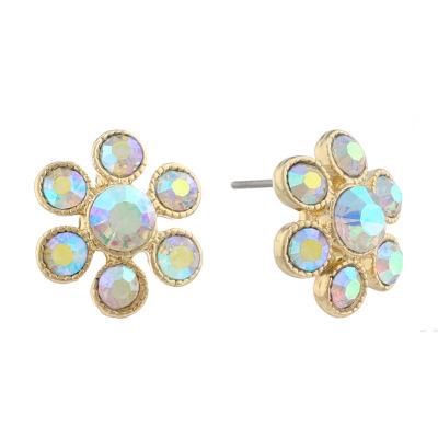 Monet Jewelry White 15mm Stud Earrings