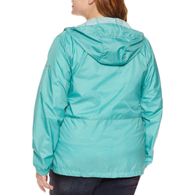 Columbia Rain To Fame Water Resistant Lightweight Raincoat-Plus