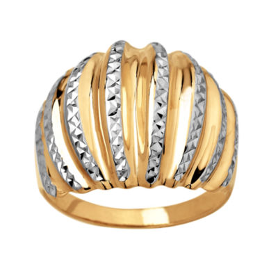 Womens Two Tone 10K Gold Band