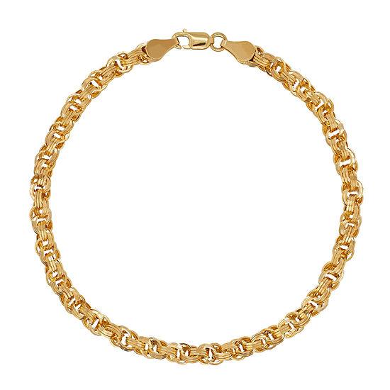 14K Gold 7.25 Inch Hollow Link Link Bracelet