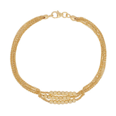 Made in Italy 14K Gold 7.5 Inch Link Bracelet