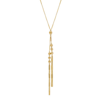 Womens 14K Gold Y Necklace