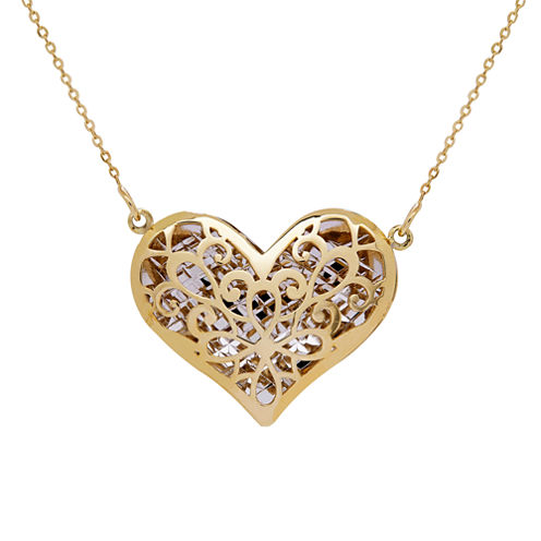 Womens 17 Inch 14K Gold Link Necklace