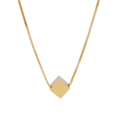 Womens 14K Gold Beaded Necklace