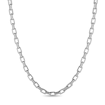 Made in Italy Sterling Silver 24 Inch Solid Box Chain Necklace