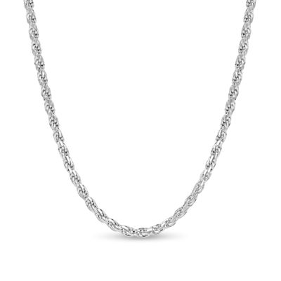 Made in Italy Sterling Silver 20 Inch Solid Rope Chain Necklace