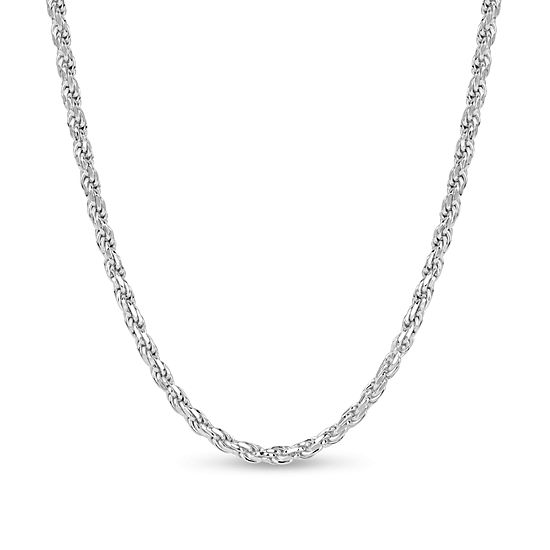 Made In Italy Sterling Silver 24 Inch Solid Rope Chain Necklace