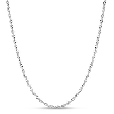 Made In Italy Sterling Silver 16 Inch Chain Necklace