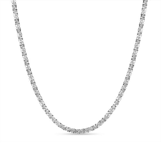 Made in Italy Sterling Silver 20 Inch Solid Braid Chain Necklace