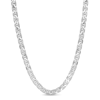 Made in Italy Sterling Silver 24 Inch Solid Chain Necklace