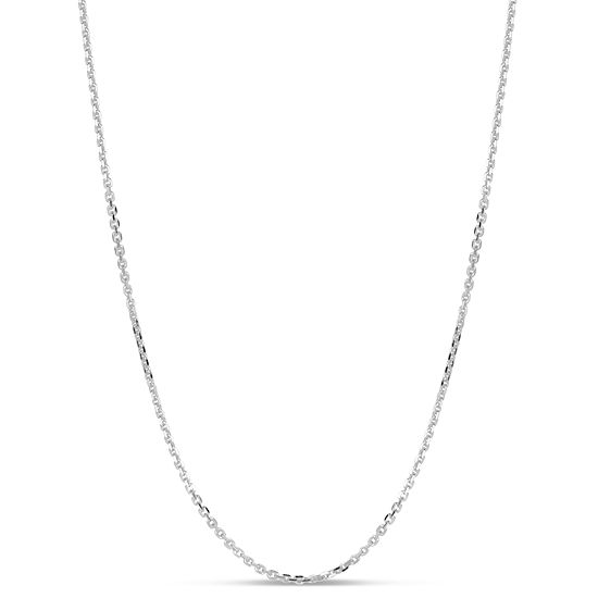 Made in Italy Sterling Silver 24 Inch Solid Anchor Chain Necklace