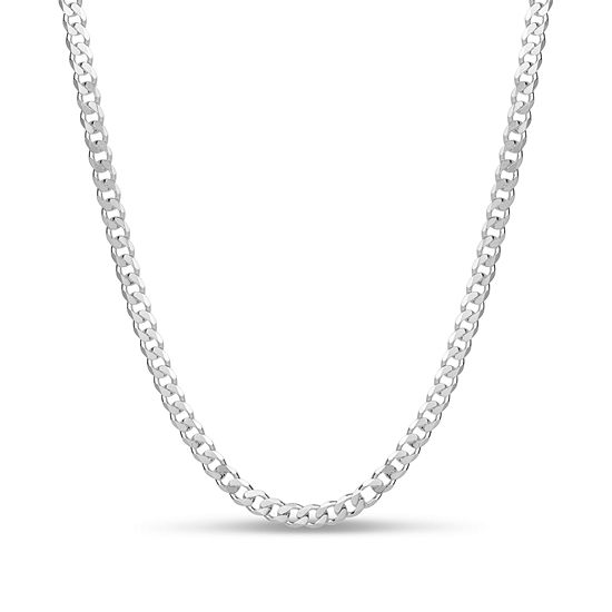 Made in Italy Sterling Silver 30 Inch Curb Solid Chain Necklace