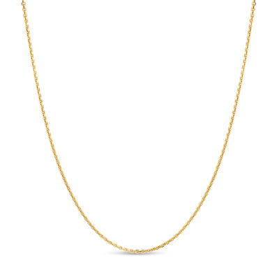 Made in Italy 18K Gold Over Silver 24 Inch Solid Anchor Chain Necklace