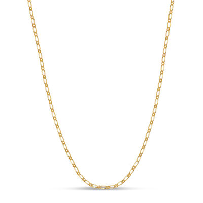 Made in Italy 18K Gold Over Silver 16 Inch Solid Anchor Chain Necklace