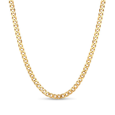 Made in Italy 18K Gold Over Silver 30 Inch Solid Chain Necklace