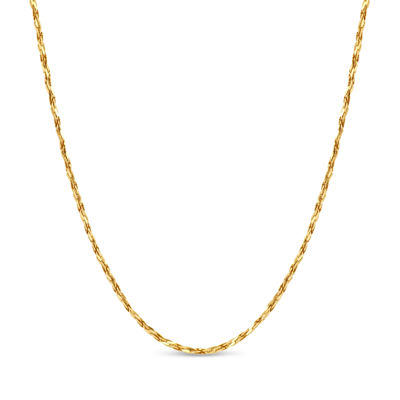Made in Italy 18K Gold Over Silver 18 Inch Solid Link Chain Necklace