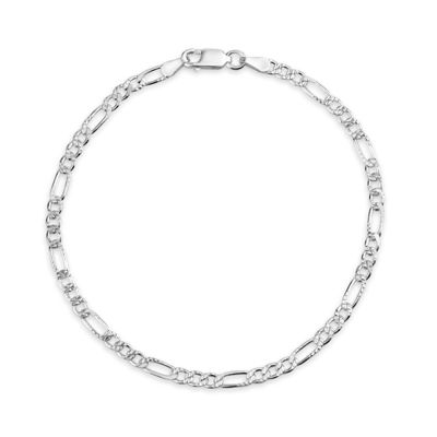 Made in Italy 8 Inch Solid Figaro Chain Bracelet