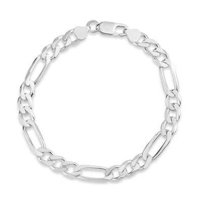 Made In Italy Unisex 9 Inch Sterling Silver Chain Bracelet