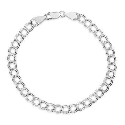 Made In Italy Unisex 8 Inch Sterling Silver Chain Bracelet