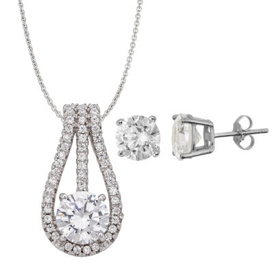 Womens 3-pc. 5 CT. T.W. Cubic Zirconia Sterling Silver Jewelry Set