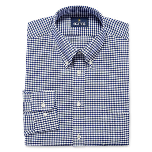 Stafford Long Sleeve Oxford Gingham Dress Shirt