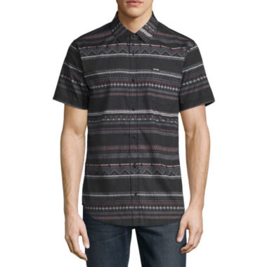 Zoo York Short Sleeve Pattern Button-Front Shirt