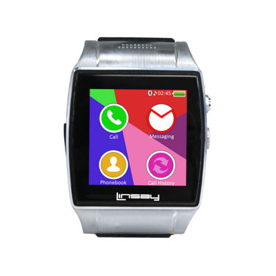 LINSAY® NEW Executive EX-5L Smartwatch with Google Assistant, camera for video/photo and up to 64GB Micro SD SLOT