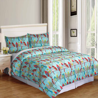 Riverbrook Home Feathered Friends 3-pc. Midweight Comforter Set