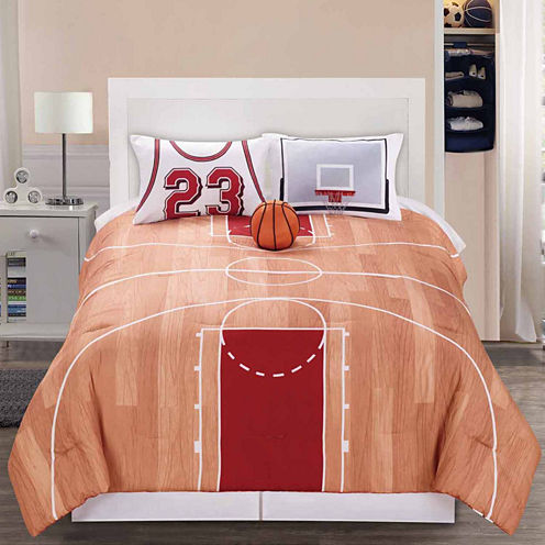 Riverbrook Home B-Ball 3-pc. Midweight Reversible Comforter Set