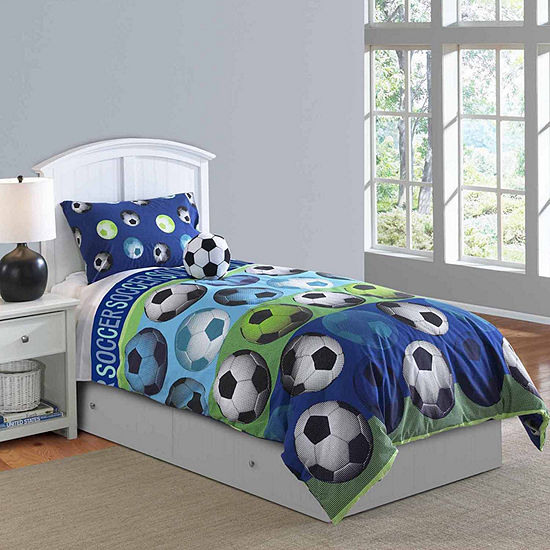 Riverbrook Home Soccer League 4 Pc Midweight Easy Care Comforter Set