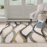 Cambridge Home Contemporary Curves Rectangular Indoor Rugs