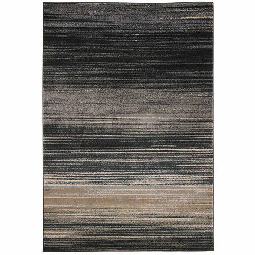 Cambridge Home Abstract Stripes Rectangular Rugs