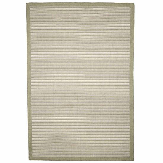Cambridge Home Indoor-Outdoor Stripe Rectangular Indoor Rugs
