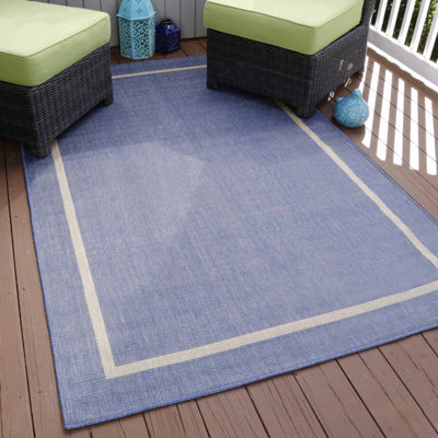 Cambridge Home Indoor-Outdoor Border Rectangular Indoor Area Rug