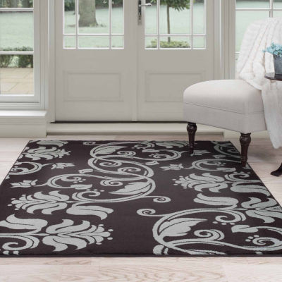 Cambridge Home Floral Scroll Rectangular Rugs
