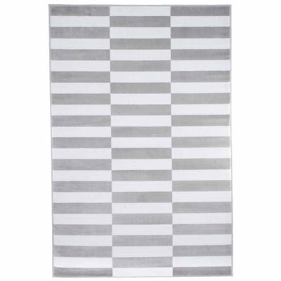 Cambridge Home Checkered Stripe Rectangular Rugs
