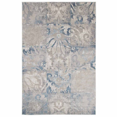 Cambridge Home Vintage Squares Rectangular Indoor Rugs