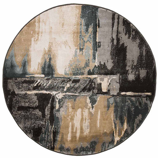 Cambridge Home Artfully Abstract Round Indoor Rugs