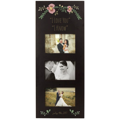 Cathy's Concepts Personalized Three Window Picture Frame