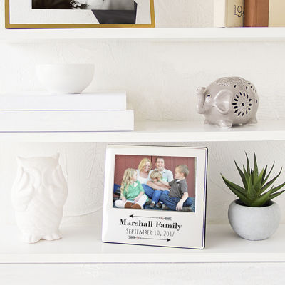 Cathy's Concepts Personalized Arrow Silver Picture Frame