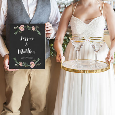 Cathy's Concepts Personalized Wedding Chalkboard Sign
