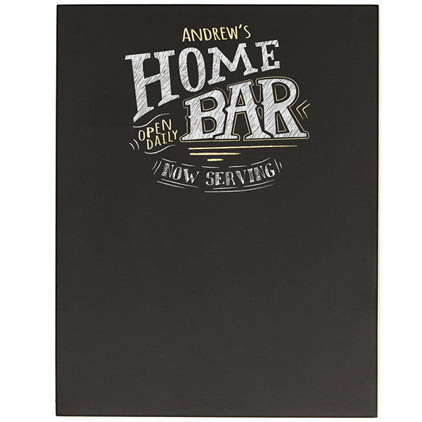 Cathy's Concepts Personalized Bar Menu Chalkboard