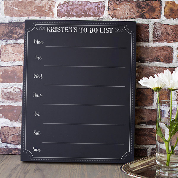 Cathy's Concepts Personalized Weekly Planner Chalkboard